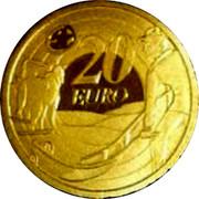 Ireland 20 Euro Ploughman Banknote 2009 Proof KM# 61 20 EURO coin reverse