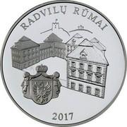 Lithuania 20 Euro Radziwill Palace 2017 LMK Proof KM# 232 RADVILŲ RŪMAI 2017 coin reverse