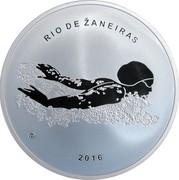 Lithuania 20 Euro Rio 2016 Olympic Games 2016 Proof KM# 224 RIO DE ŽANEIRAS LMK 2016 coin reverse