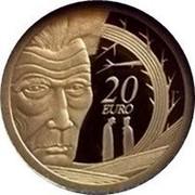 Ireland 20 Euro Samuel Beckett 2006 Proof KM# 46 20 EURO coin reverse