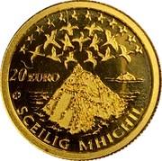Ireland 20 Euro Skellig Michael 2008 Proof KM# 55 20 EURO SCEILIG MHICHIL coin reverse