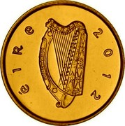 Ireland 20 Euro The Book of Kells 2012 Proof KM# 73 ÉIRE 2012 coin obverse