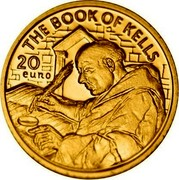 Ireland 20 Euro The Book of Kells 2012 Proof KM# 73 THE BOOK OF KELLS 20 EURO coin reverse