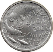 Finland 20 € Protecting The Baltic Sea 2011 Proof KM# 169a SUOMI 20 € FINLAND coin obverse