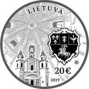 Lithuania 20 € Sapieha Palace 2019 LIETUVA 20 € 2019 coin obverse