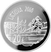 Lithuania 20€ Vydunas 2018 LMK Proof LIETUVA 2018 20€ LMK coin obverse
