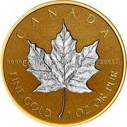 Canada 200 Dollars (30th Anniversary of the Silver Maple Leaf) CANADA 99999 99999 FINE GOLD 1OZ OR PUR coin reverse