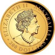 Australia 200 Dollars Kangaroo Gold Bullion 2019 ELIZABETH II AUSTRALIA JC 200 DOLLARS coin obverse
