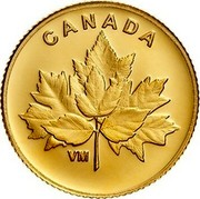 Canada 25 Cents Bouquet of Maple Leaves 2019 CANADA VM coin reverse