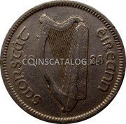 Ireland 3 Pence 1928 KM# 4 Sterling Coinage coin obverse