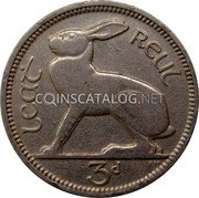 Ireland 3 Pence 1928 KM# 4 Sterling Coinage coin reverse