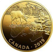 Canada 30 Dollars (Wolves and Elk) CANADA • 2019 coin reverse