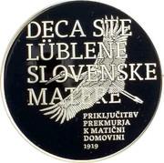 Slovenia 30 Euro Rejoining of Prekmurje Region 2019 DECA STE LUBLENE SLOVENSKE MATERE PRIKLUČITEV PREKMURJA K MATIČNI DOMOVINI 1919 coin reverse