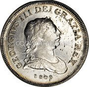 Ireland 30 Pence Token 1808 Harp top points between O and K in TOKEN. KM# Tn4 Token Coinage coin obverse