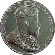 Cyprus 36 Piastres 1901 Proof Republic EDWARDS VII D: G: BRITT: OMN: REX F: D: IND: IMP. coin obverse