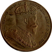 Cyprus 36 Piastres Edward VII XM13a 1901 Proof EDWARDS VII D: G: BRITT: OMN: REX F: D: IND: IMP. coin obverse