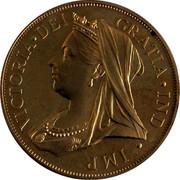 Cyprus 36 Piastres Victoria INA RETRO 1901 Proof VICTORIA • DEI GRATIA • IND • IMP coin obverse
