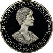 Luxembourg 40 ECU BeNeLux 1994 Proof X# 42 CHARLOTTE GRANDE-DUCHESSE DE LUXEMBOURG 1919 - 1964 coin obverse