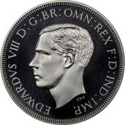 Cyprus 45 Piastres 1937 Proof Republic EDWARDVS VIII D: G: BR: OMN: REX F: D: IND: IMP. coin obverse
