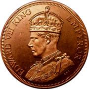 Cyprus 45 Piastres (Edward III) EDWARD VIII KING EMPEROR coin obverse