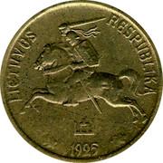 Lithuania 5 Centai 1925 KM# 72 Republic LIETUVOS RESPUBLIKA 1925 coin obverse