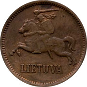 Lithuania 5 Centai 1936 KM# 81 Republic LIETUVA coin obverse