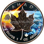 Canada 5 Dollars (Abee Meteorite) KM# 1601 CANADA 9999 9999 FINE SILVER 1 OZ ARGENT PUR coin reverse