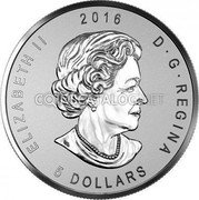Canada 5 Dollars (ANA California State Flower)  coin obverse