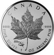 Canada 5 Dollars (ANA California State Flower)  coin reverse