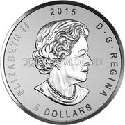 Canada 5 Dollars (ANA - Chicago State flower)  coin obverse