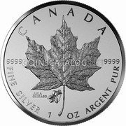 Canada 5 Dollars (ANA - Chicago State flower)  coin reverse