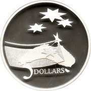 Australia 5 Dollars International Year of Space 1992 Cased Proof KM# 190a 5 DOLLARS coin reverse