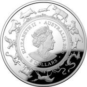 Australia 5 Dollars Lunar Year of the Rat 2020 Proof ELIZABETH II AUSTRARLIA 5 DOLLARS 2020 coin obverse