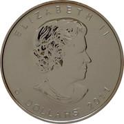 Canada 5 Dollars Wolf (Gilted) 2011 ELIZABETH II SB 5 DOLLARS 2011 coin obverse