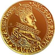 Lithuania 5 Ducats 1622 KM# 27 Trade Coinage *SIG:3.DG:REX.POL:M.DVX.LIT:RVSS:PRVSS: coin obverse