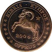 Cyprus 5 Euro Cent Probe trial prueba 2004 UNC X# Pn3 KIBRIS • ΚΥΠΡΟΣ 2004 CYPRUS coin obverse