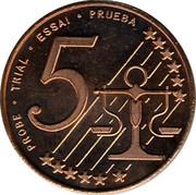Cyprus 5 Euro Cent Probe trial prueba 2004 UNC X# Pn3 PROBE • TRIAL • ESSAI • PRUEBA 5 coin reverse
