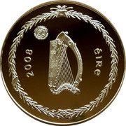 Ireland 5 Euro International Polar Year 2008 Proof KM# 56 ÉIRE 2008 coin obverse