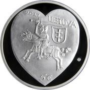 Lithuania 5 Euro Kaziukas Fair 2017 Proof KM# 230 2017 LIETUVA 5 € coin obverse