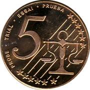 Lithuania 5 Euro X# Pn3 Euro Coinage PROBE TRIAL ESSAI PRUEBA 5 coin obverse