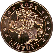 Lithuania 5 Euro X# Pn3 Euro Coinage LIETUVA 2004 coin reverse