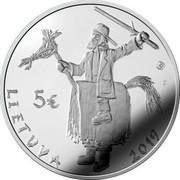 Lithuania 5 Euro Mardi Gras 2019 LMK Proof LMK F 5€ LIETUVA 2019 coin obverse