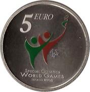 Ireland 5 Euro Special Olympics World Summer Games in Dublin 2003 KM# 40 5 EURO SPECIAL OLYMPCS WORLD GAMES IRELAND 2003 coin reverse