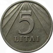 Lithuania 5 Litai 1991 KM# 93 Reform Coinage 5 LITAI coin reverse