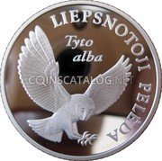 Lithuania 5 Litai 2002 Proof KM# 132 Reform Coinage coin reverse