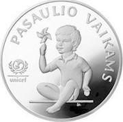 Lithuania 5 Litai For the Children of the World 1998 Proof KM# 127 PASAULIO VAIKAMS unicef ŽA coin reverse