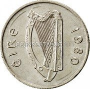 Ireland 5 Pence 1980 KM# 22 Decimal Coinage coin obverse