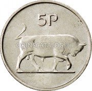 Ireland 5 Pence 1980 KM# 22 Decimal Coinage coin reverse