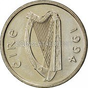 Ireland 5 Pence 1994 KM# 28 Decimal Coinage coin obverse