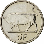 Ireland 5 Pence Small type 1994 KM# 28 5P coin reverse